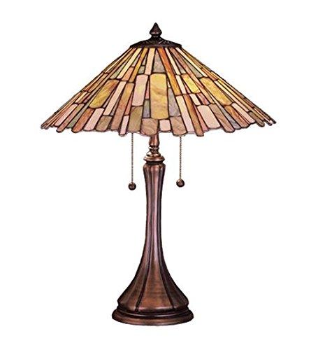 Meyda Tiffany 52158 Jadestone Delta Table Lamp, 23″H