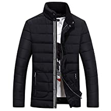 Ellove Fashion Winter Thickened Men's Coat Puffer Jacket Jogging Zipper Overcoat