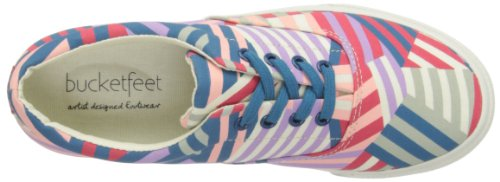 Bucketfeet Kvinners Lappeteppe Lerret Blonder-up Sneaker 8