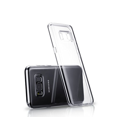 Technext020 Ultra Slim Fit Silicone Phone Case Compatible For Galaxy S8 Plus, Clear