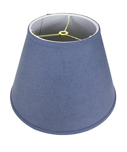 9x16x12 Empire Hardback Lampshade Textured Blue Slatewith Brass Spider fitter By Home Concept - Perfect for table and floor lamps - Large, Blue