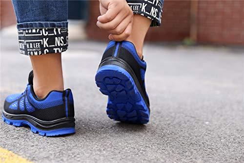 Azul S Mujer Acero Entrenador Unisex Zapatillas Senderismo De Con Tqgold Hombre Seguridad Punta Impermeables Para Zapatos Trabajo f1ZwxawRq