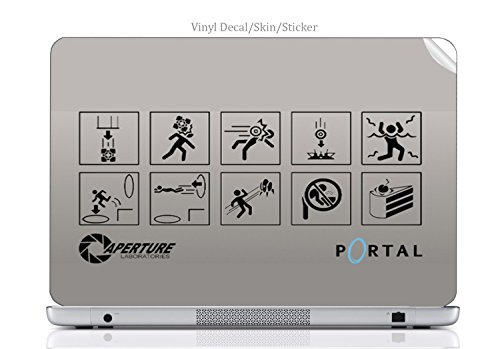 Laptop VINYL DECAL Sticker Skin Print Portal Hazard Sign Art fits Latitude E6440 (Portal Computer Decal)