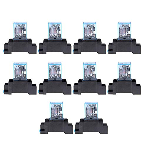 Electrical Instruments Dedicated Dc 24v 10pcs Coil Power Relay Ly2nj Dpdt 8 Pin Ptf08a Jqx-13f Socket Base Electronic Micro Mini Electromagnetic Module Switch Multimeters