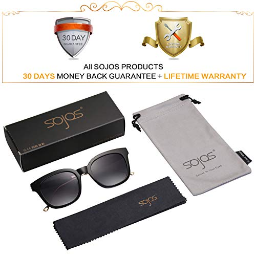 SOJOS Classic Square Polarized Sunglasses Unisex UV400 Mirrored Glasses SJ2050