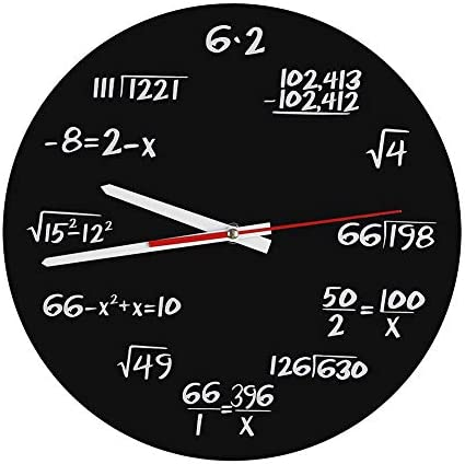 Diyeeni Acrylic Wall Clock,Mathematical Modern Clock,Wall Decor Clocks,Wall Decorations for Classroom,Office,Classroom,Gift for Engineer,Mathematician,The one Works with Numbers