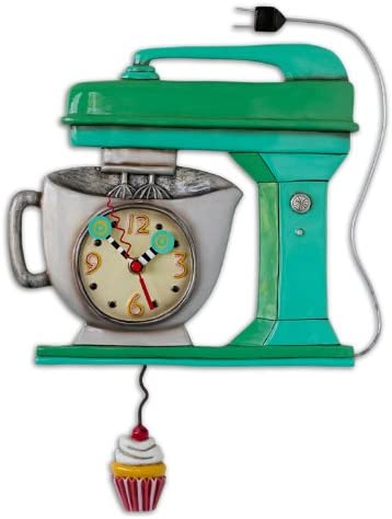 Allen Designs Vintage Mixer Green Pendulum Clock
