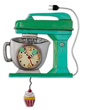 Allen Designs Vintage Mixer Green Pendulum Clock