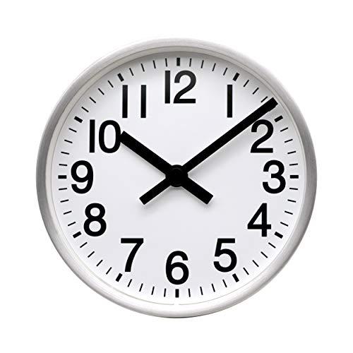 COMODO CASA Wall & Desk Clock- Metal Brush-Silver Frame-Glass Cover-Non Ticking-Quartz Sweep-Silent 6 inch Retro Clock,White
