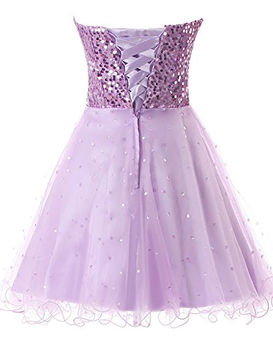 32 lilac Sweetheart Homecoming Prom Lace Junior's Gowns Dresses Belle Party House Ball Short qwCqPan6