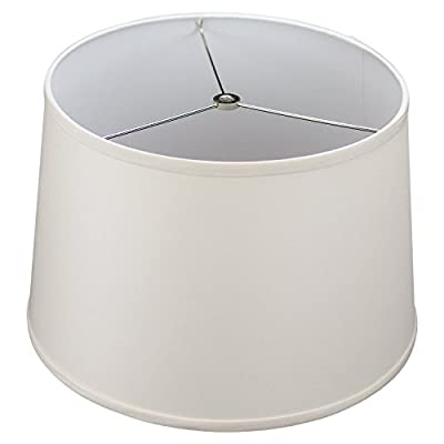 "FenchelShades.com 13"" Top Diameter x 15"" Bottom Diameter x 10"" Height Fabric Drum Lampshade Spider Attachment"