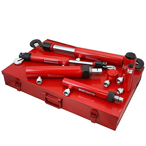 XtremepowerUS 7PC Hydraulic Ram Auto Body Vehicle Frame Repair Tool Collision Kit w/Case