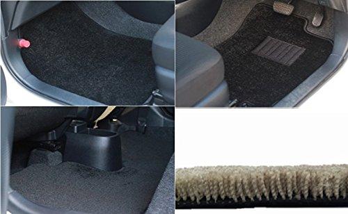 カーマット スズキ エスクード TD54W 平成17年5月~平成29年4月 5ドア/(27/10~Escudo2.4)全座席セットブラック-フラッフィー B07BQC7X9Q 全座席セット|4ブラック 4ブラック 全座席セット