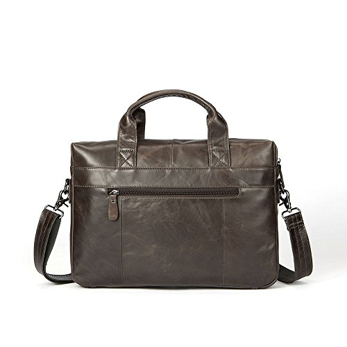 Suitable Shoulder Qi Business Men's Men's Briefcase Leather For Vintage First Handbags Bag Business Leisure Leather Casual Layer Satchel Notebook Bags qtfOwtr