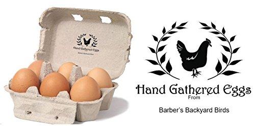 Hand Gathered - Personalized Egg Box - self inking stamp - 2 1/4