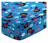 SheetWorld Fitted Crib/Toddler Sheet - Dora Blue - Made In USA