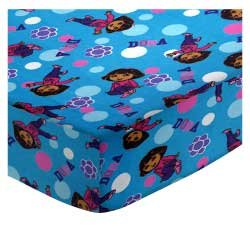 ib/Toddler Sheet - Dora Blue - Made In USA (Dora The Explorer Quilt)