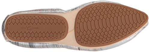Women's Samra Noise Flat Vince Leather Metallic Silver Ballet Yosi wqSCw