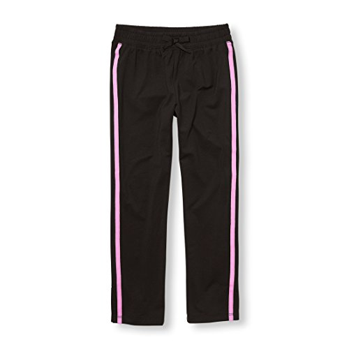 The Children's Place Big Girls' Track Pants, Black 5953, M (7/8) by The Children's Place