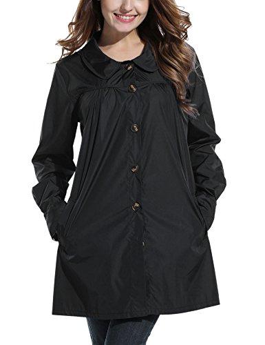 Beyove Womens Rain Jacekt Lightweight Waterproof Outdoor Hooded (Hooded Waterproof Suit)