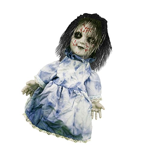 Fityle Walking and Screaming Woman Ghost Figure Halloween Prop Party -