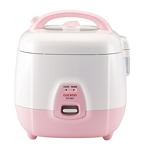 Cuckoo CR-0631 6 Cup Electronic Rice Cooker, 110V, Pink