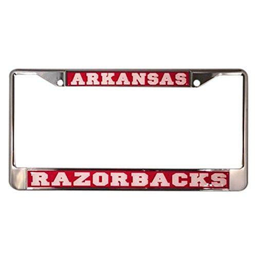 University of Arkansas License Plate Frame/Tag For Front Back of Car Officially Licensed (Regular - Metal - West Cobb Georgia