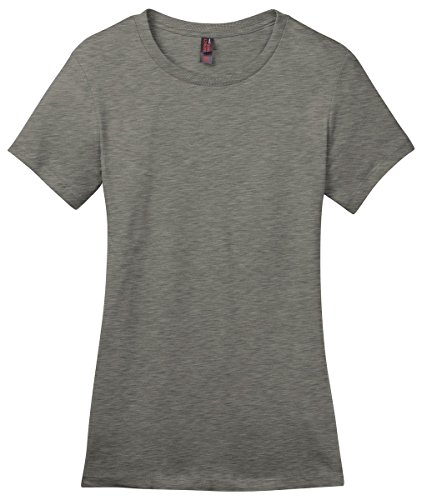 Perfect Weight Crew Neck Tee - District Made Women's Perfect Weight Crewneck T-Shirt_Heathered Steel_XXX-Large