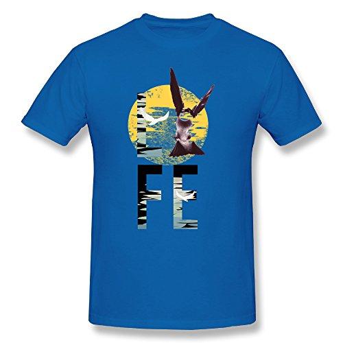 GofiBaby Mens LIFE By Aquamarine T Shirt RoyalBlue ()