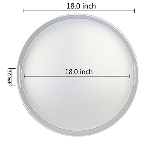 "Fantastic:)â""¢ Decorative Tray With Shinny Finish. (1, Round Shinny Silver)"