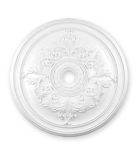 Lighting Accessories Ceiling Medallion with White Tones Finish 41 inch - World of Crystal ()