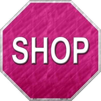 Smart Blonde Shop Mit Rosa Metall Neuheit Stoppschild Bs 401 Sport Freizeit