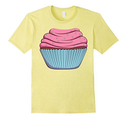 Cup Cake Costumes Ideas (Mens Cupcake Costume T-Shirt for Halloween Cupcake Pastry Cosplay 3XL Lemon)