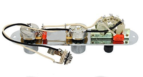 Fender Tele Telecaster Bill Lawrence Style Loaded 5 Way Control Plate, Chrome