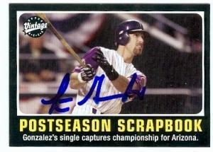 Luis Gonzalez Baseball (Luis Gonzalez autographed Baseball Card (Arizona Diamondbacks) 2002 Upper Deck Vintage #300 2001 World Series Winning Hit)