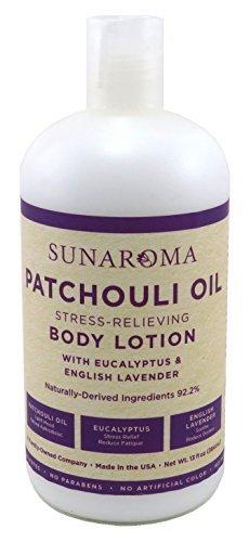 Patchouli Honey - Sunaroma Lotion Body 13 Ounce Patchouli Oil (384ml) (2 Pack)