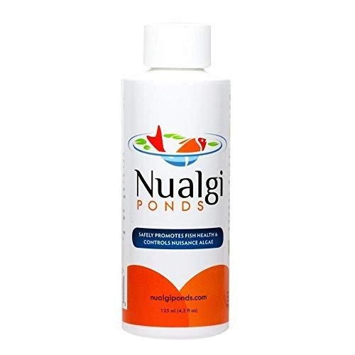 (Nualgi Ponds - Natural Algae Control, Water Clarifier & Best Algaecide Alternate - 100% Safe for All Fish, Plants & Animals (1 x 125ml))