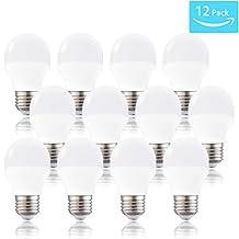 LED A15 Bulb, Not Dimmable Daylight White 5000K 4 Watt LED A15 Appliance Bulb(40 Watt Equivalent), E26 Medium Base 120 Volt 360 Lumens, Replacement G50 Light Bulb(Pack of 12)