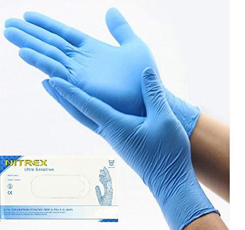 Nitrex Nitrile Disposable Gloves Latex Free & Powder Free 200 PCS