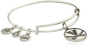 Alex and Ani University of Virginia Logo Expandable Rafaelian Silver Bangle Bracelet
