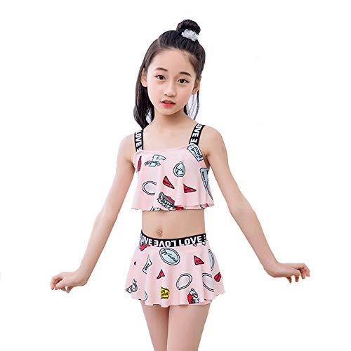 수영복 아동 여 아 수영복 키즈 귀여운 투어 걸스 멋쟁이 온천 수영 2 점 세트 비키니 분할 여름 / Swimsuit Kids Girl Swimsuit Kids Cute Travel Girls Fashionable Hot Spring Bathing 2 Pieces Set Bikini Separate Summer