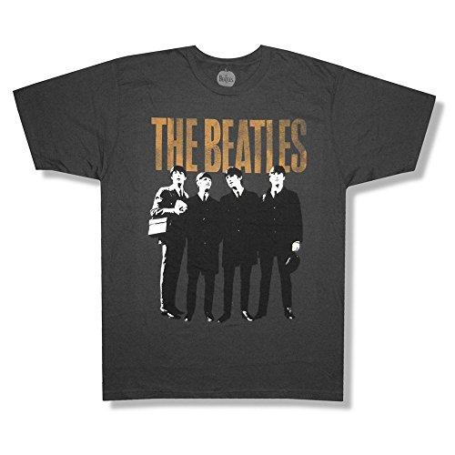 "The Beatles ""4 Legends"" Portrait Charcoal Grey T-Shirt New Adult"