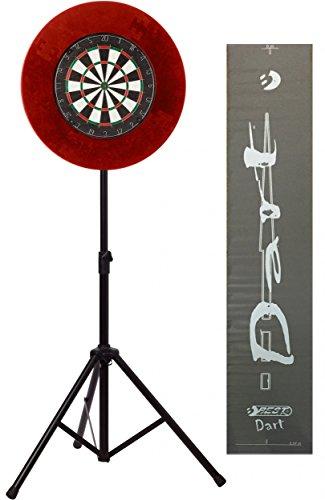 BEST® DARTSCHEIBEN-SET für Steeldarts: Sisal-/Bristle-Dartboard, Auffangring und Dartboardständer inkl. Dartmatte - Artikel auch einzeln erhältlich!, Best:1. Dartboard-Set