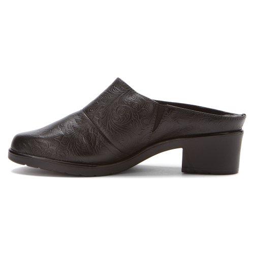 Leather Caden Tooled Black Mule Walking Women's Cradles nYE6xwEfHv