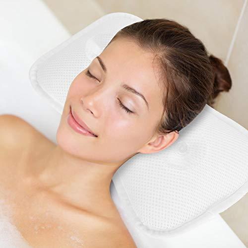 Almohada de bañera, cojín profesional de las copas de la succión del baño del cuello de la almohada del hueso de la...