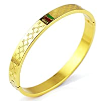 Fly.Dream Women's Fashion GG Bracelet - Titanium Steel Red and Green Bracelets