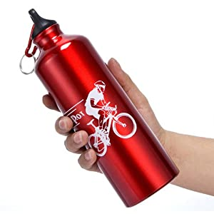 Meanhoo Convenient Cool Cycling Bicycle Stainless Steel 750 ML Sports Water Bottle Red