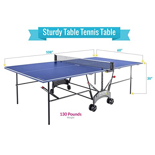 Kettler Outdoor Table Tennis Table - Axos 1 with Outdoor Accessory Bundle by Kettler (Image #1)