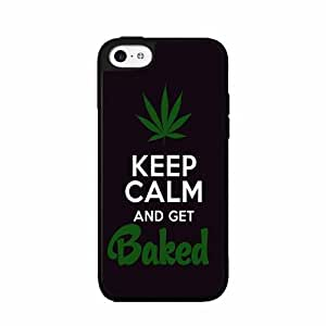 Keep Calm and Get Baked - Plastic Phone Case Back Cover iPhone 5c