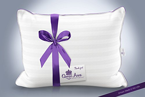 The Original Queen Anne Pillow - French Goose Down Luxury Pillow - Hotel Collection - Made in USA (Queen Size, Firm Fill) by Queen Anne Pillow Company (Image #4)